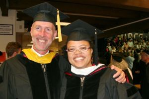Doug & Liss in faculty regalia